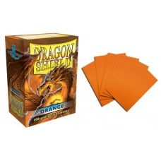 Dragon Shield Orange Protective sleeves 100 count