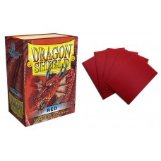 Dragon Shield Red Protective sleeves 100 count