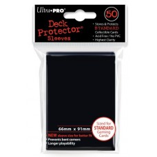 Ultra Pro Black Standard Deck Protectors 50 count